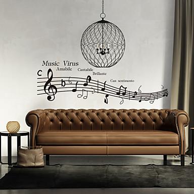 настенные наклейки наклейки на стены, вирусов музыкальный стиль английских слов&цитирует наклейки стены PVC