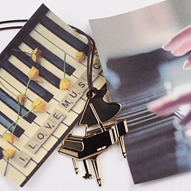 Piano Shaped Stainless Steel Bookmark