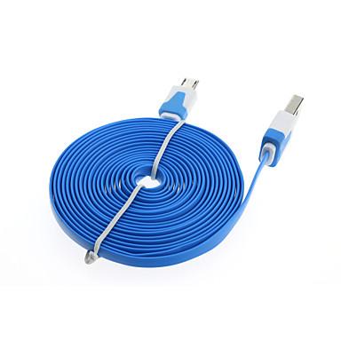 Câble du chargeur de données 3m plat micro usb