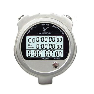 Üç satır 100 bellek kronometre kronometre hareketi tf100f metal elektronik zamanlayıcı kronometre