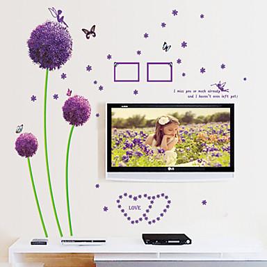 seinä tarroja seinäsiirtokuvia tyyli violetti voikukan pvc seinä tarroja
