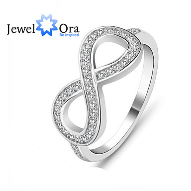 Women's Silver Sterling Silver Zircon Cubic Zirconia Silver Infinity Fashion Daily Costume Jewelry