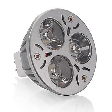 250 lm GU5.3(MR16) LED szpotlámpák MR16 3 led Nagyteljesítményű LED Meleg fehér DC 12V