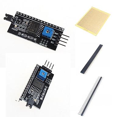 IIC / i2c / interface adapter bord lcd1602 og tilbehør