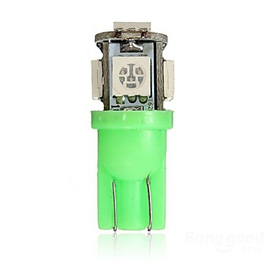 SO.K 2pcs T10 Car Light Bulbs 1.5 W SMD 5050 5 Turn Signal Light For universal