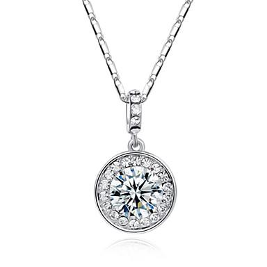 Žene Circle Shape Geometric Shape Simple Style Ogrlice s privjeskom Kristal Imitacija dijamanta Legura Ogrlice s privjeskom ,