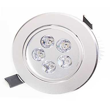 led downlight 5 yüksek güç led 450-550lm sıcak beyaz doğal beyaz dekoratif ac 85-265v