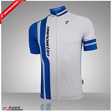 GETMOVING Men's Women's Short Sleeves Cycling Jersey Bike Jersey, Quick Dry, Anatomic Design, Ultraviolet Resistant, Breathable,