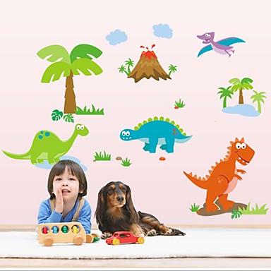 seinä tarroja seinäsiirtokuvia tyyli ihana dinosauruksen pvc seinä tarroja