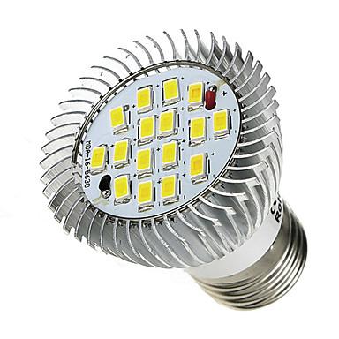 E26/E27 LED Spot Işıkları 16 led SMD 5630 Serin Beyaz 520-550lm 6000-6500K AC 85-265V