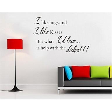 Lubię Przytulania cytat naklejek dekoracji ścian zooyoo8067 winylu naklejki dekoracyjne ściany wymienny