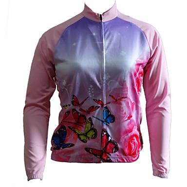 GETMOVING Damskie Długi rękaw Koszulka rowerowa - Blue+Pink Rower Koszulka, Quick Dry, Anatomiczny kształt, Oddychający
