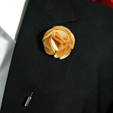 여성용 브로치 - 꽃장식 세련 브로치 Light Orange 제품 일상복