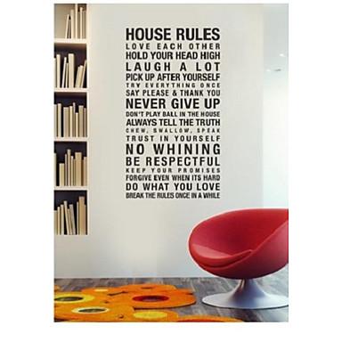règles de la maison de l'harmonie dans cette maison devis décalque de mur zy8010 adesivo de parede sticker mural amovible en vinyle
