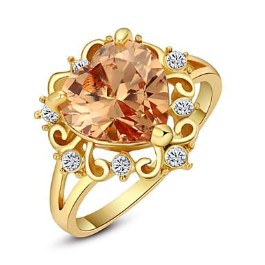 Naisten Kristalli Timanttijäljitelmä / Metalliseos Statement Ring - Love / Heart / Muoti Punainen / Vaaleanruskea Rengas Käyttötarkoitus