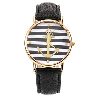 아가씨들 드레스 시계 패션 시계 손목 시계 석영 가죽 밴드 블랙 블랙