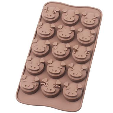 돼지 백금 실리콘 초콜릿 몰드