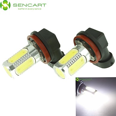 SENCART H11 Car Light Bulbs 10W COB 900-1000lm 5 Fog Light