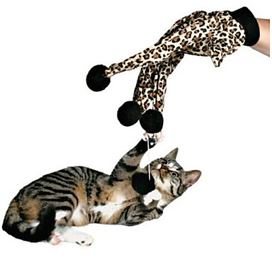 Cat Toy Pet Toys Interactive Teaser Elastic Leopard Cotton For Pets