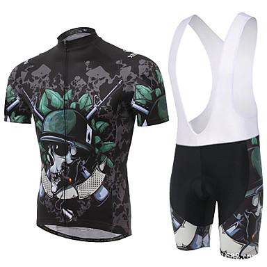 Koszulka i szorty z szelkami na rower Męskie Z krótkim rękawem Rower Szorty łazienkowe ramię Koszulka Topy Zestawy odzieży
