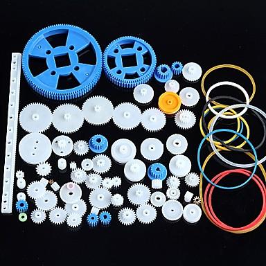 80 Arten von Kunststoff-Getriebemotor Getriebe Getriebepaket Roboter Zubehör-Kit