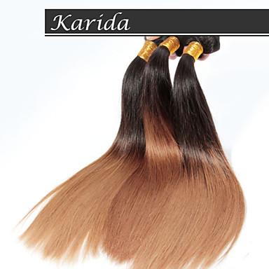 4 pcs / lot cheveux ombre Vente en gros cheveux brésiliens, non traité à 100% et doux cheveux ombre tout droit brésilien