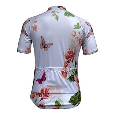 JESOCYCLING Damskie Krótki rękaw Koszulka rowerowa Rower Koszulka, Quick Dry, Ultraviolet Resistant, Oddychający