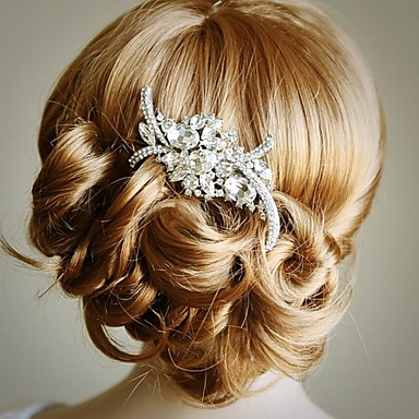 Kobiety Flower Girl Stop Winieta-Ślub Piękny Hair Combs 1 sztuka