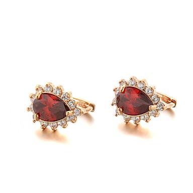 Kolczyki koła Modny luksusowa biżuteria Cyrkon Cyrkonia Pozłacane Biżuteria Na 2pcs