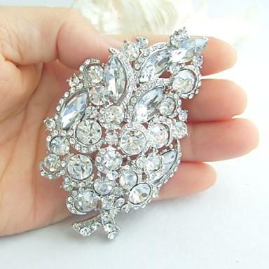 αξεσουάρ γάμου ασήμι-Ήχος σαφές rhinestone crystal νυφικό καρφίτσα γαμήλια διακόσμηση νυφική ανθοδέσμη καρφίτσα γάμο