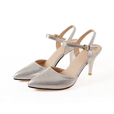 Mulheres Sapatos Materiais Customizados Verão Outono Conforto Tira no Tornozelo Sandálias Caminhada Salto Agulha Dedo Apontado Presilha