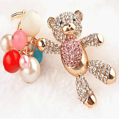 Holiday Classic Theme Keychain Favors Material Rhinestone Zinc Alloy Keychain Favors Others Keychains - 1 Spring Summer Fall Winter All