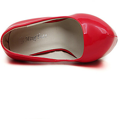 Vestido Patentado 03317716 Negro Zapatos Stiletto Otoño Primavera Verano Cuero Mujer Tacón Rojo vRwqHS
