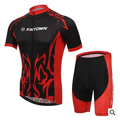 Cycling Jersey with Shorts Unisex Short Sleeves Bike Compression Clothing Clothing Suits Quick Dry Ultraviolet Resistant Moisture