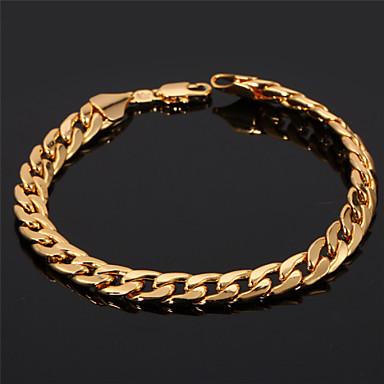 Damen vergoldet Ketten- & Glieder-Armbänder Armreife - Klassisch Kreisform Golden Armbänder Für Hochzeit Party Geburtstag