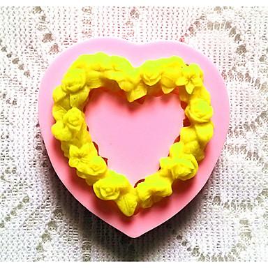 посуда силиконовые формы для выпечки сердце для помады конфеты шоколадный торт (случайные цвета)