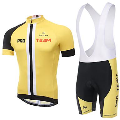 Kısa Kol Askılı Şortlu Bisiklet Forması Unisex Bisiklet Bisiklet Şortu Giysi Setleri/Takım ElbiselerNefes Alabilir Hızlı Kuruma Statik