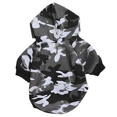 Katze Hund Kapuzenshirts Hundekleidung camuflaje Grau Baumwolle Kostüm Für Haustiere Herrn Damen Lässig/Alltäglich Modisch