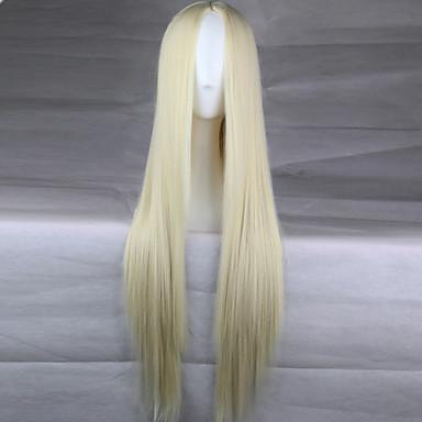 Γυναικείο Συνθετικές Περούκες Χωρίς κάλυμμα Ίσια Ξανθό Απόκριες Περούκα Καρναβάλι περούκα Φυσική περούκα φορεσιά περούκες