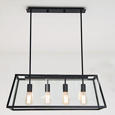 4-Light Πολυέλαιοι Χωνευτό φωτιστικό οροφής - Mini Style, 110-120 V / 220-240 V, Θερμό Λευκό / Λευκό, Περιλαμβάνεται λαμπτήρας / 10 - 15㎡