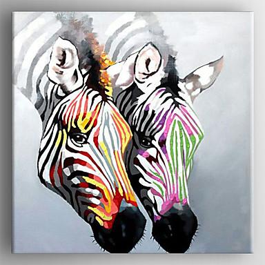 El-Boyalı HayvanModern Tek Panelli Kanvas Hang-Boyalı Yağlıboya Resim For Ev dekorasyonu