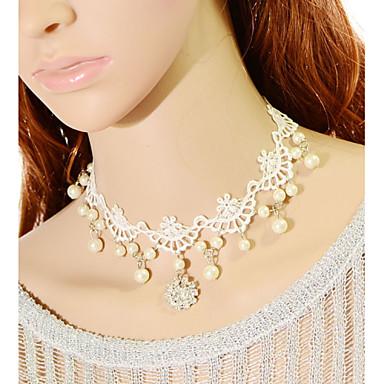 Damen - Tüll Kreisförmig Modische Halsketten Für Hochzeit Besondere Anlässe Geburtstag Verlobung Geschenk