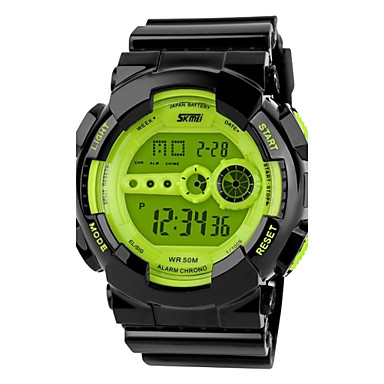 SKMEI Homens Relogio digital Relógio de Pulso Relógio Esportivo Quartzo Digital Quartzo Japonês Alarme Calendário Cronógrafo Impermeável