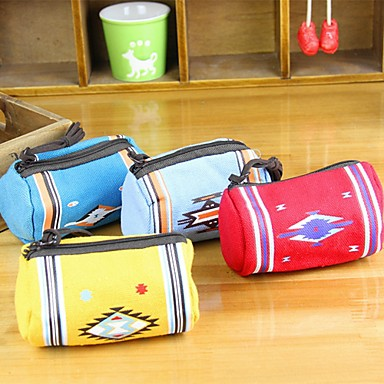 Fashionable Pillow Stylish Multi Color Canvas Coin Purse (Random Delivery)