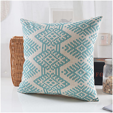 moderni tyyli sininen kuvio puuvilla / pellava koriste tyyny