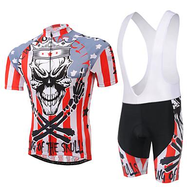 Γυναικεία Κοντομάνικο Αθλητική φανέλα και σορτς ποδηλασίας Ποδήλατο Κοντά Παντελονάκια / Σορτσάκι με τιράντες / Αθλητική μπλούζα, 3D Pad,