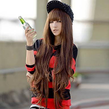 Synthetische Haare Perücken Wellen Kappenlos Kostüm-Perücke