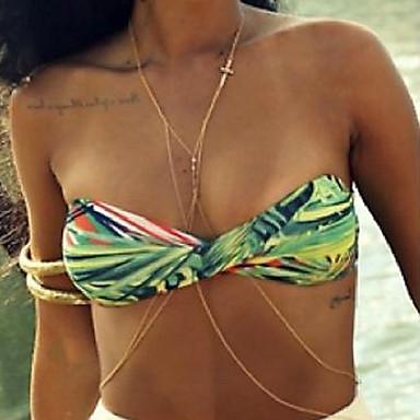 Naisten Kehokorut Body Ketju / vatsa ketju Metalliseos Muoti Cross Shape Ruudun väri Korut Kausaliteetti