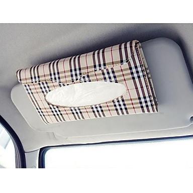 auton häikäisysuoja kudos laatikko auto tarvikkeet holder paperipyyhkeellä Clip- PU nahkalaukku