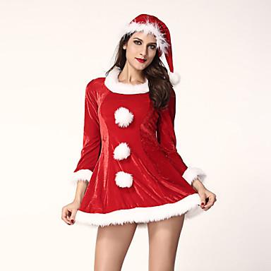 Mikulás ruhák Szerepjáték Jelmezek Jelmez Bulikra Nő Mindszentek napja Karácsony Fesztivál/ünnepek Mindszentek napi kösztümök Piros